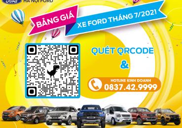 Bảng giá xe Ford tháng 7/2021 tại Hà Nội Ford