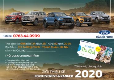 Chương trình giới thiệu xe Ford Ranger & Ford Everest 2020 tại Hà Nội Ford