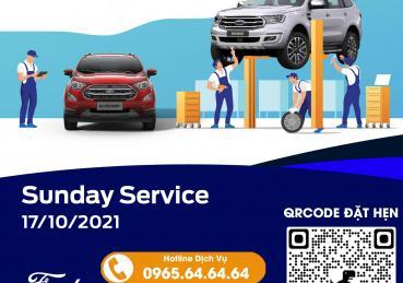 Chương trình ngày chủ nhật dịch vụ - Sunday Service tại Hà Nội Ford ngày 17/10