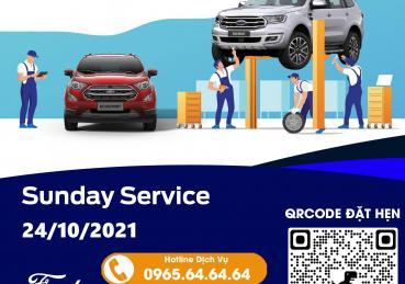 Chương trình ngày chủ nhật dịch vụ - Sunday Service tại Hà Nội Ford ngày 24/10