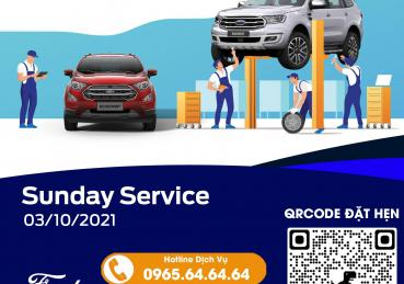Chương trình ngày chủ nhật dịch vụ - Sunday Service tại Hà Nội Ford tháng 10