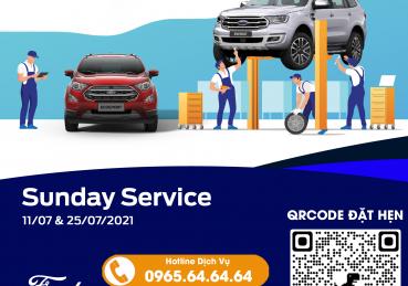 Chương trình SUNDAY SERVICE - Dịch Vụ Ngày Chủ Nhật tại Hà Nội Ford