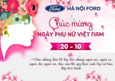 Hà Nội Ford chúc mừng ngày Phụ nữ Việt Nam 20-10