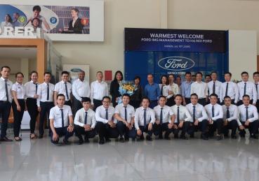 Hà Nội Ford tiếp đón đoàn khách lãnh đạo của Khối Thị Trường Quốc Tế